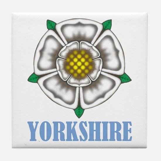 White Rose of York Tile Coaster