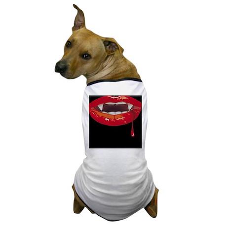 Dark Vampire Lips Dog T-Shirt