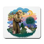 St Francis #2/ Sealyham T Mousepad