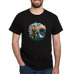 St Francis #2/ Sealyham T Dark T-Shirt