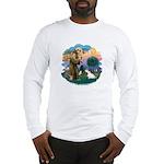 St Francis #2/ Sealyham T Long Sleeve T-Shirt