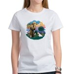 St Francis #2/ Sealyham T Women's T-Shirt