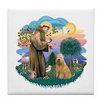 St Francis #2/ Wheaten #2 Tile Coaster