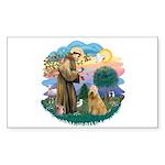 St Francis #2/ Wheaten #2 Sticker (Rectangle)