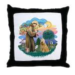 St Francis #2/ Wheaten #2 Throw Pillow