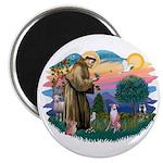 St Francis #2/ Whippet #7 Magnet
