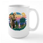 St Francis #2/ Whippet #7 Large Mug