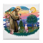 St Francis #2/ Whippet #7 Tile Coaster