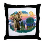 St Francis #2/ Whippet #7 Throw Pillow
