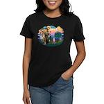 St Francis #2/ Whippet #7 Women's Dark T-Shirt
