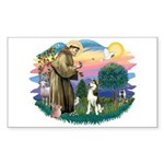 St Francis #2/ Siberian #3 Sticker (Rectangle)