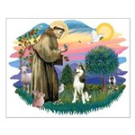 St Francis #2/ Siberian #3 Small Poster
