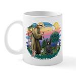 St Francis #2/ Briard (blk) Mug