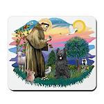 St Francis #2/ Briard (blk) Mousepad