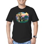 St Francis #2/ Briard (blk) Men's Fitted T-Shirt (