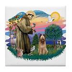 St Francis #2/ Briard (f) Tile Coaster