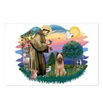St Francis #2/ Briard (f) Postcards (Package of 8)