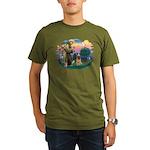 St Francis #2/ Briard (f) Organic Men's T-Shirt (d