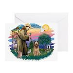 St Francis #2/ Briard (f) Greeting Card