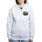 St Francis #2/ Briard (f) Women's Zip Hoodie