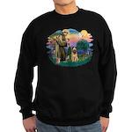 St Francis #2/ Briard (f) Sweatshirt (dark)