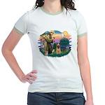 St Francis #2/ Briard (f) Jr. Ringer T-Shirt