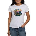 St Francis #2/ Briard (f) Women's T-Shirt