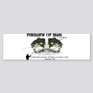 Jesus Fishers of Men Sticker (Bumper)