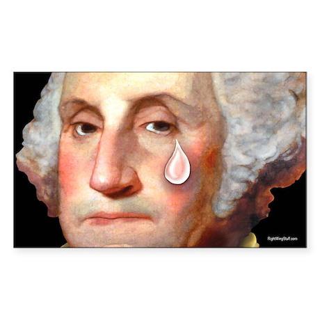 Washington - Tear Sticker (Rectangle)