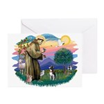 St Francis #2/ Boston Ter Greeting Cards (Pk of 10
