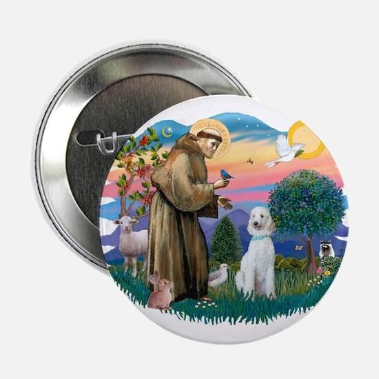 """St Francis #2/ Poodle (Std C) 2.25"""" Button"""