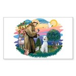 St Francis #2/ Poodle (Std C) Sticker (Rectangle)