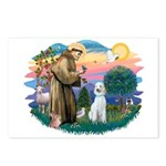 St Francis #2/ Poodle (Std C) Postcards (Package o