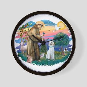 St Francis #2/ Poodle (Std C) Wall Clock