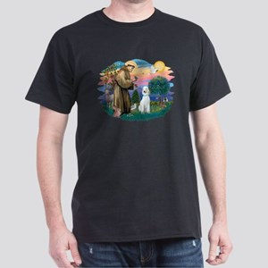 St Francis #2/ Poodle (Std C) Dark T-Shirt