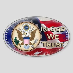 In God We Trust - Oval Sticker