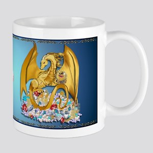 Big Gold Dragon and Globe Mug