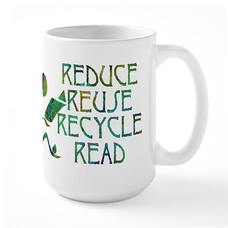Green Reader Large Mug