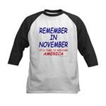 Remember November Kids Baseball Jersey