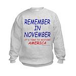Remember November Kids Sweatshirt