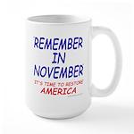 Remember November Large Mug
