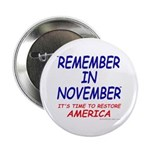 """Remember November 2.25"""" Button (100 pack)"""