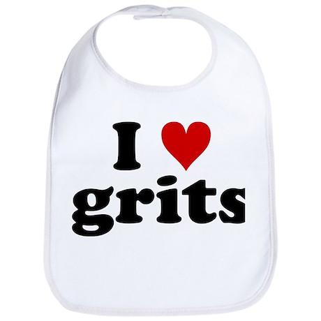 I Heart Grits Bib