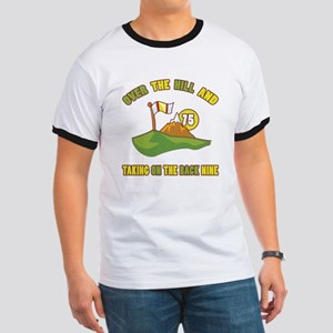 Golfing Humor For 75th Birthday Ringer T