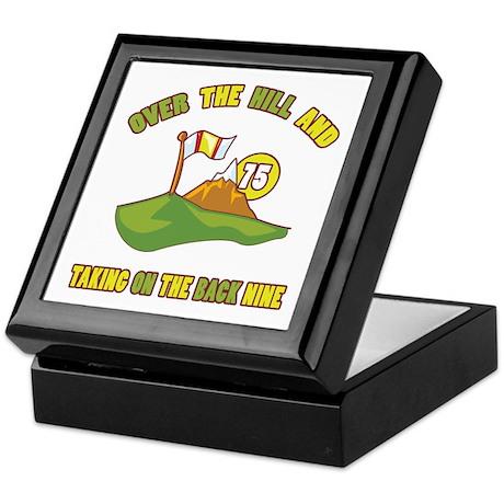 Golfing Humor For 75th Birthday Keepsake Box