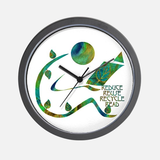 Four Rs Green Reader Wall Clock
