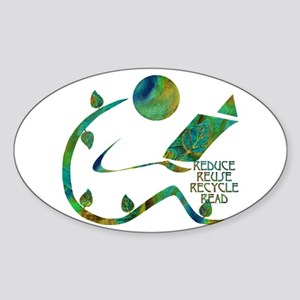 Four Rs Green Reader Sticker (Oval)