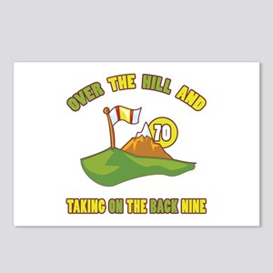 Golfing Humor For 70th Birthday Postcards (Package