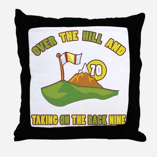 Golfing Humor For 70th Birthday Throw Pillow