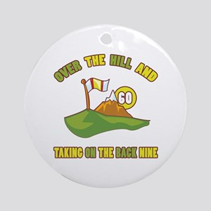 Golfing Humor For 60th Birthday Ornament (Round)